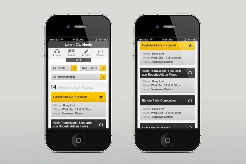 Mobile User Interface Design by Martin Oberhäuser