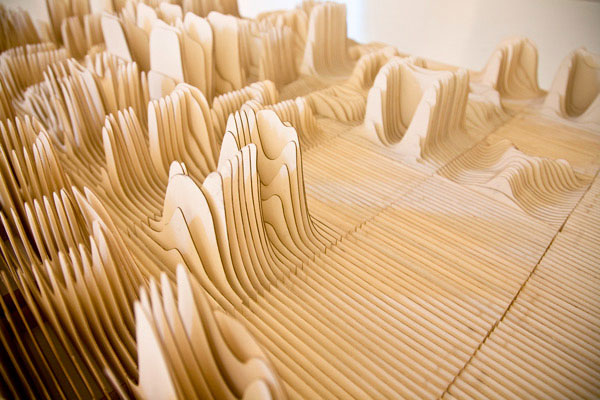 alphabet typography sculpture 3 by Synoptic Office