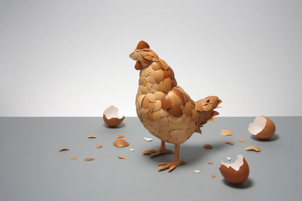 Chicken Eggshell - Creative Hand Crafted Artwork by Kyle Bean
