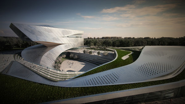 Dalian Library - Competition Design Proposal by 10 DESIGN