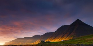 landscape photography - evening in the fjords
