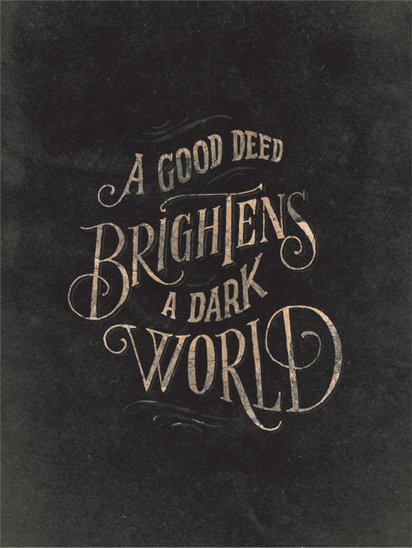 Good Deeds - Typographic Art Print by Jon Contino