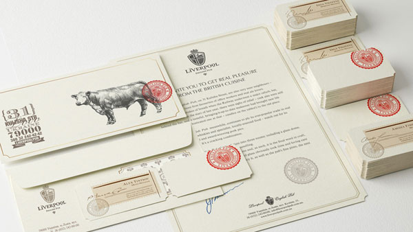 Identity Design for the Liverpool English Pub by Reynolds and Reyner