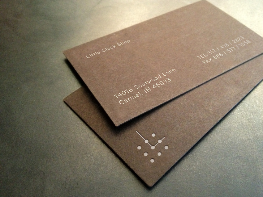Nice Identity for Little clock Shop Business Cards by Kyle