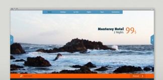 web design by martin oberhaeuser for a travel site