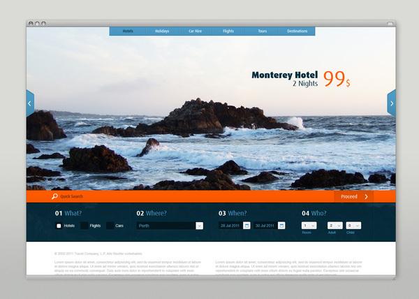 Website Design by Martin Oberhäuser for a travel site