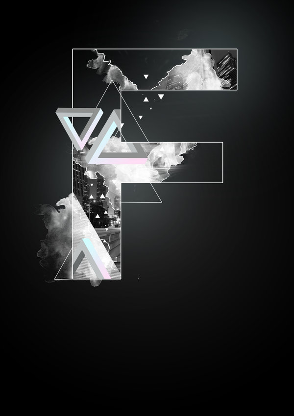Alphabetic Digital Artwork by Knarfart