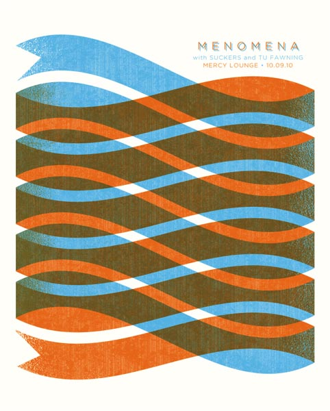 Menomena - Graphic Gig Poster Design by Andrew Vastagh