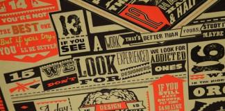 H-57 Commandments - Typographic Poster Design