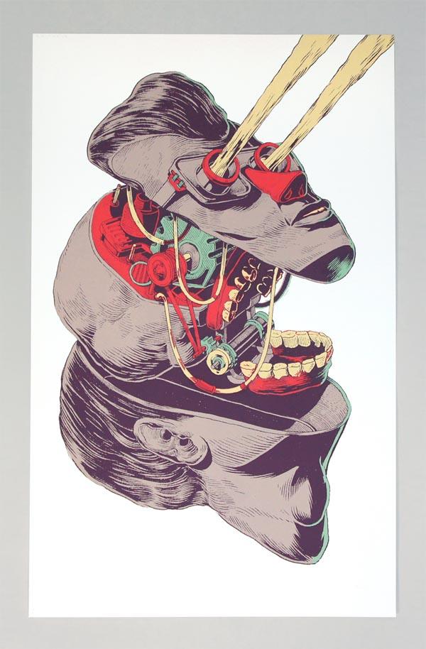 Crazy Illustration Art Print by Smithe