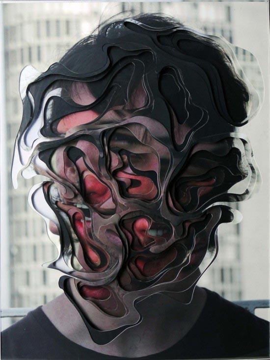 Multilayered Portrait - Collage by Lucas Simões