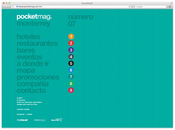 Pocketmag. Web Design by Design Studio Face