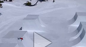 Simon Dumont's custom half pipe - Red Bull Cubed Pipe