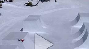 Simon Dumont's custom half pipe - Red Bull Cubed Pipe