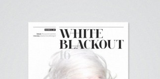 White Blackout Magazine - Cover Design
