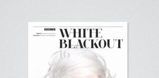 White Blackout Magazine - Cover Design
