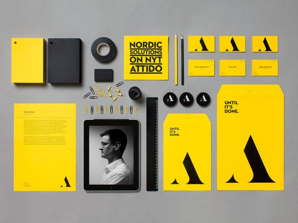 Attido - Yellow Visual Identity by Bond
