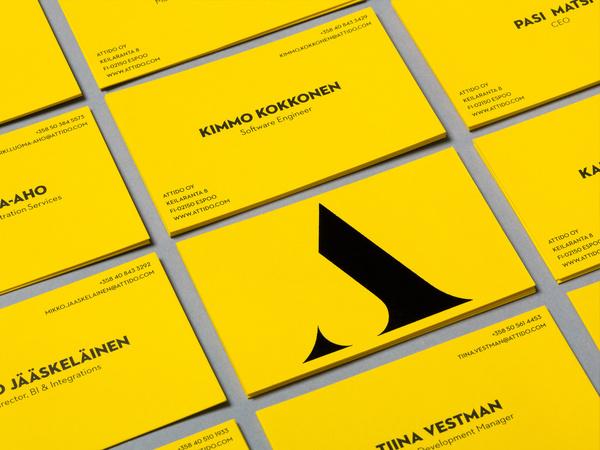 Attido - Yellow Visual Identity - Business Cards