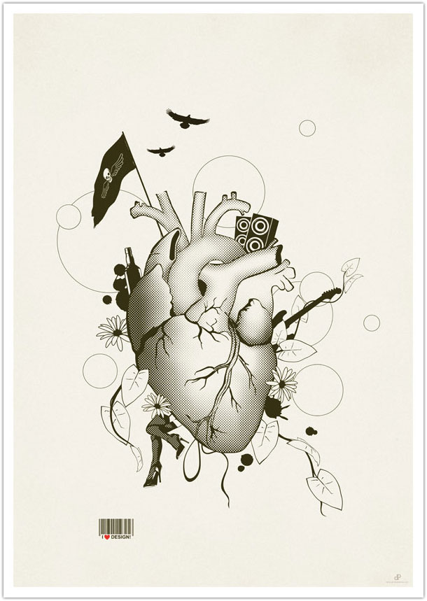 I Love Design - Illustration Art Print by Dirk Petzold