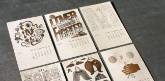 letterpress calendar by studio on fire