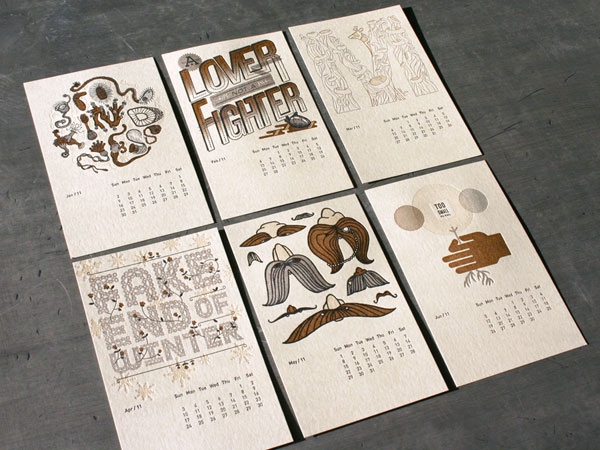 Typography Calendar Creative : Creative print design by studio on fire