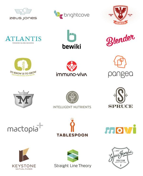 Logo Design Inspiration - A set of Logos designed by Brad Surcey