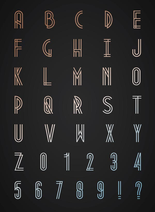 metropolis - free font