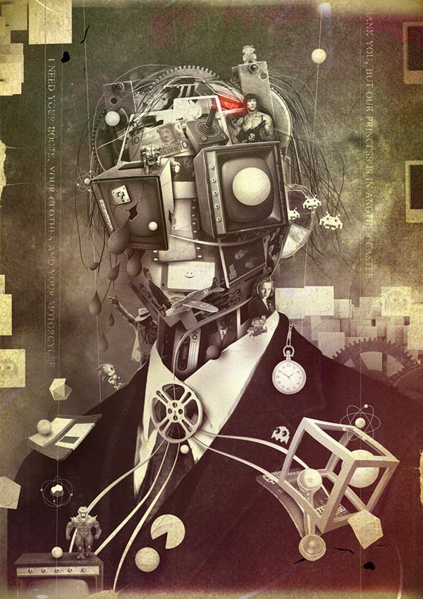 Portrait of Nostalgia - Digital Art by Berthjan
