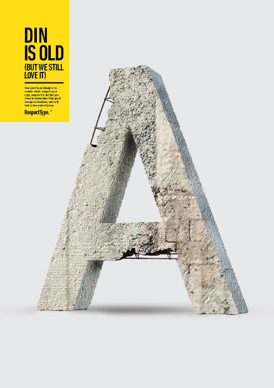 Concrete Styled RespectType - DIN by Miguel de la Garza