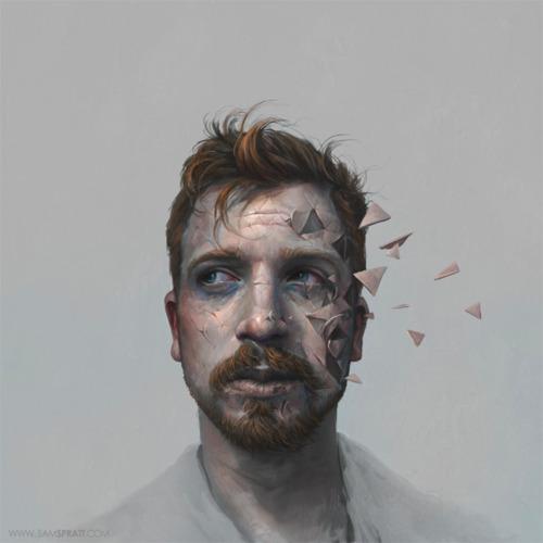 self portrait by illustrator sam spratt