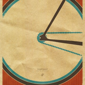 The Single Speed Fixed Gear Bike Print by Dirk Petzold