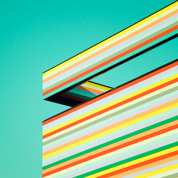Spektrum Eins - Colorful Architectural Photography of Geometric Shapes by Matthias Heiderich
