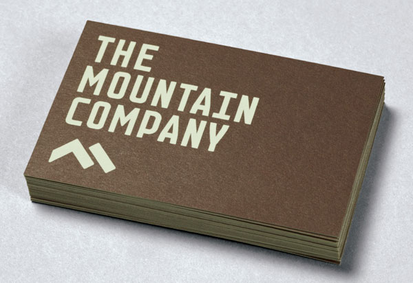 The Mountain Company - Business Cards by Luke Woodhouse