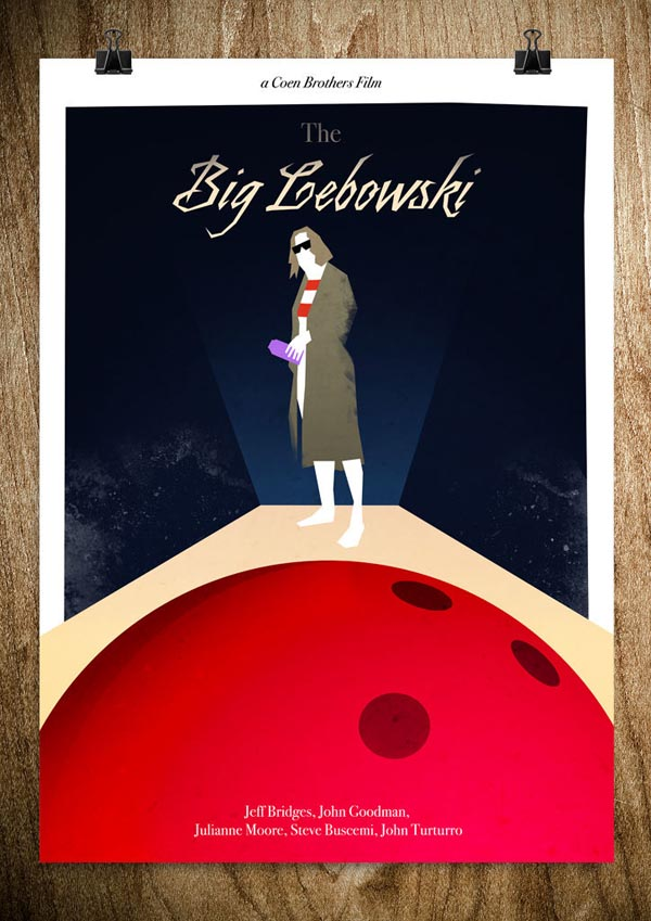 Big Lebowski - Film Poster Illustration by Rocco Malatesta