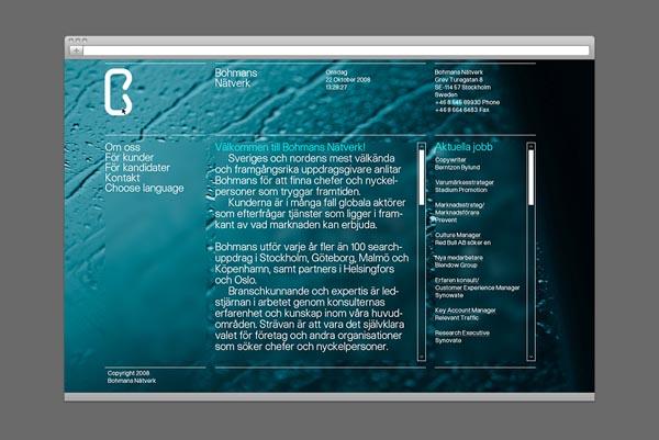 Bohmans Nätverk Website - Web Design by Kurppa Hosk