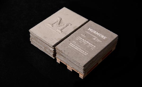 Concrete Business Cards by Murmure