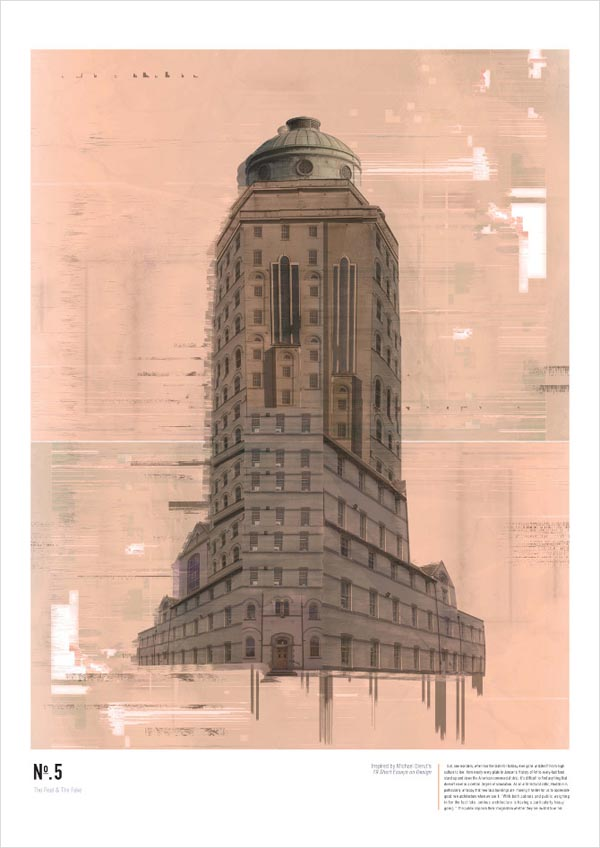 Architectural Poster Illustration by Ian Walsh Design