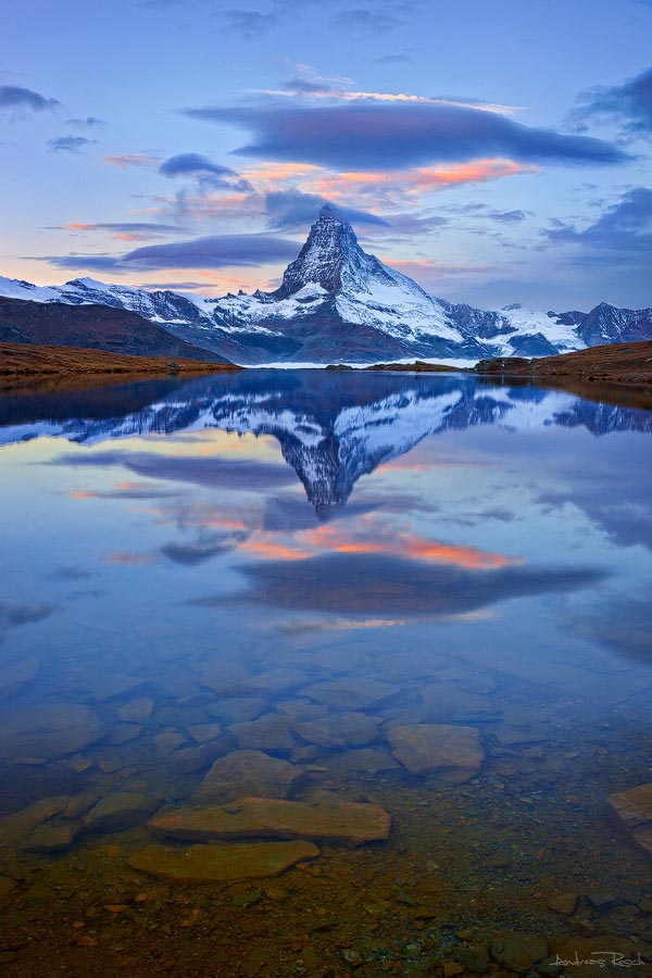 Landscape Photography of the Matterhorn and Stellisee