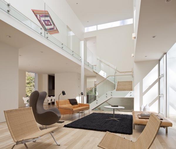 Modern interior design inside the NaCl House by David Jameson Architect