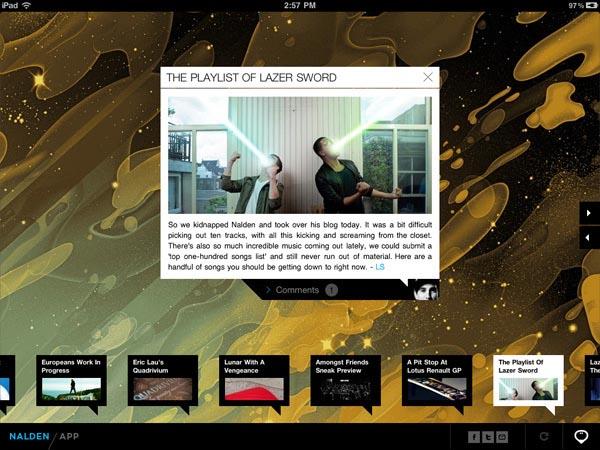 Nalden iPad App - Interface Design by Momkai