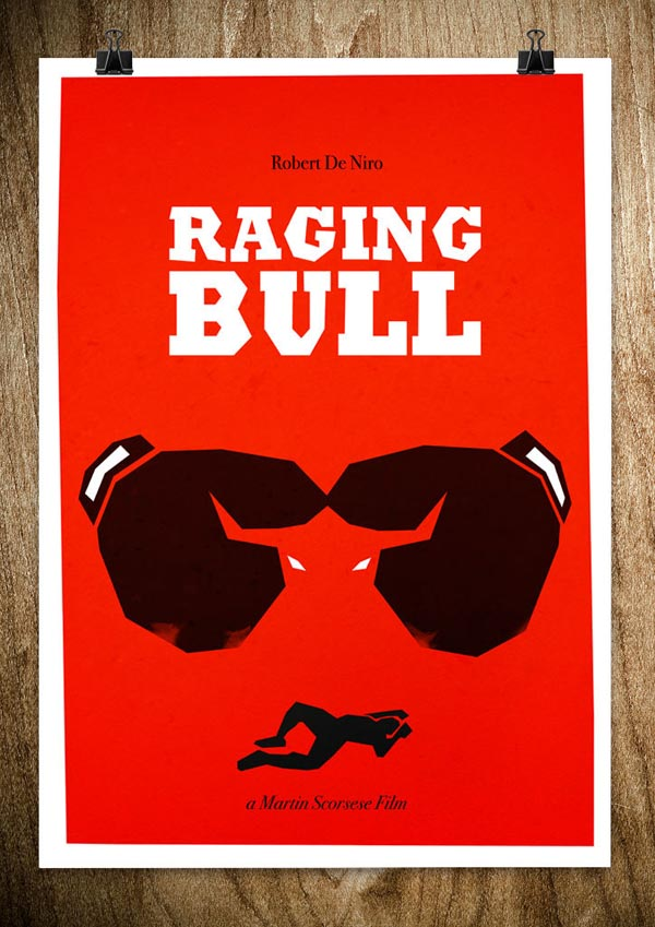 Raging Bull - Movie Poster Illustration by Rocco Malatesta