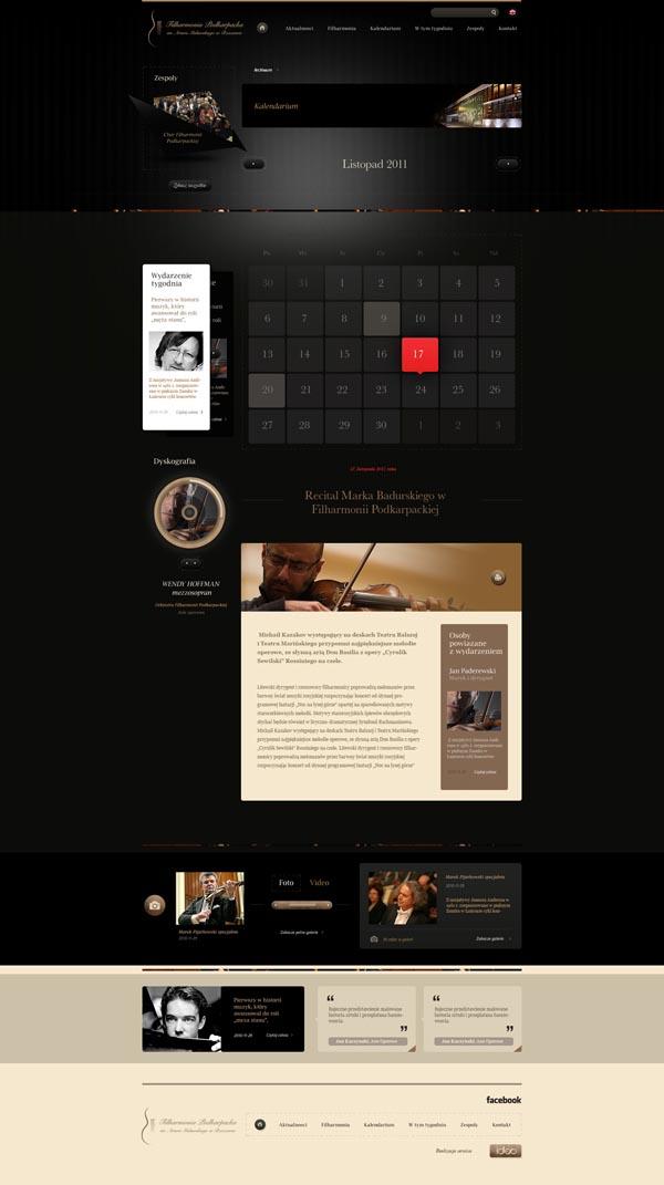 Rzeszow Philharmonic Website Design by Dominik Wasienko