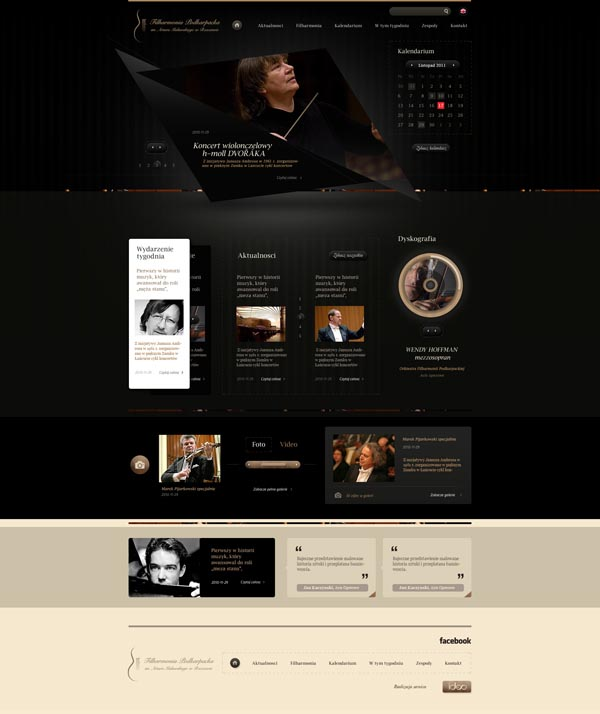 Rzeszow Philharmonic Website - Web Design by Dominik Wasienko