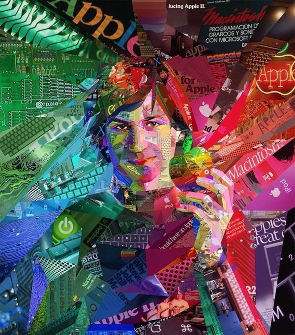 Steve Jobs Portrait by Charis Tsevis