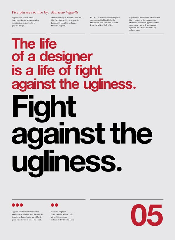 Vignelli Forever - Typographic Poster Design by Anthony Neil Dart