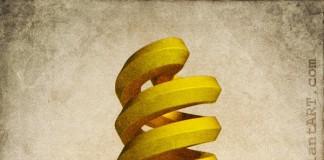 Art Bulb - Digital Art by Sanjok