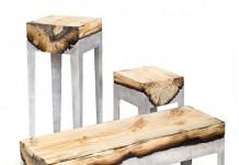 cast aluminium and wood furniture