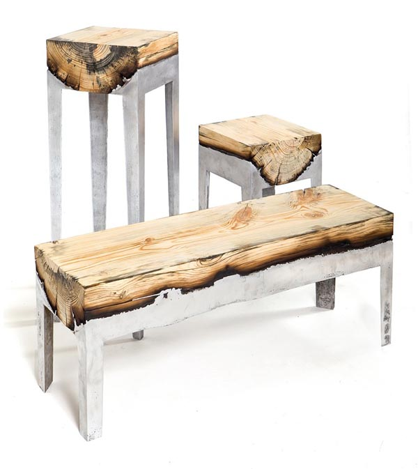 Cast Aluminium and Wood Furniture by Hilla Shamia