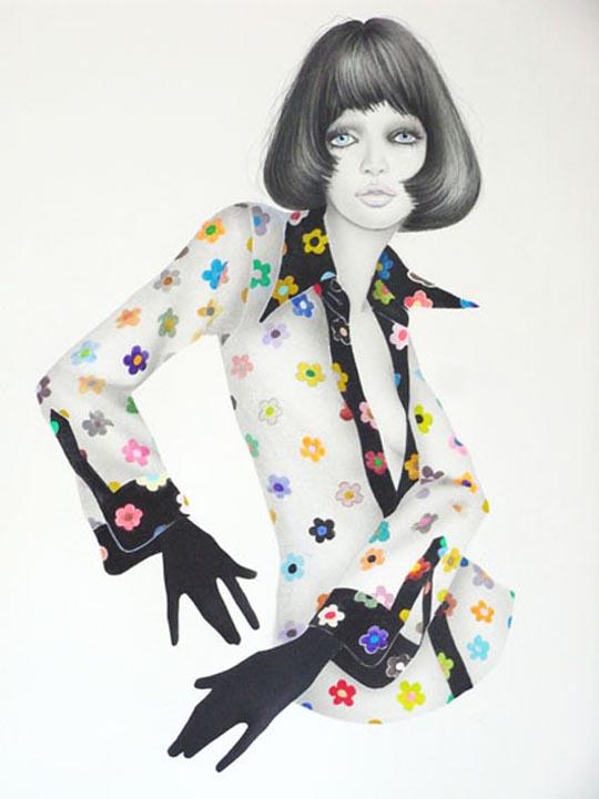 fashion inspired painting by masaki mizuno