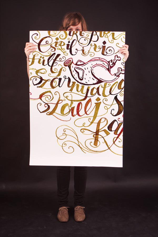poems in calligraphy - typography artwork